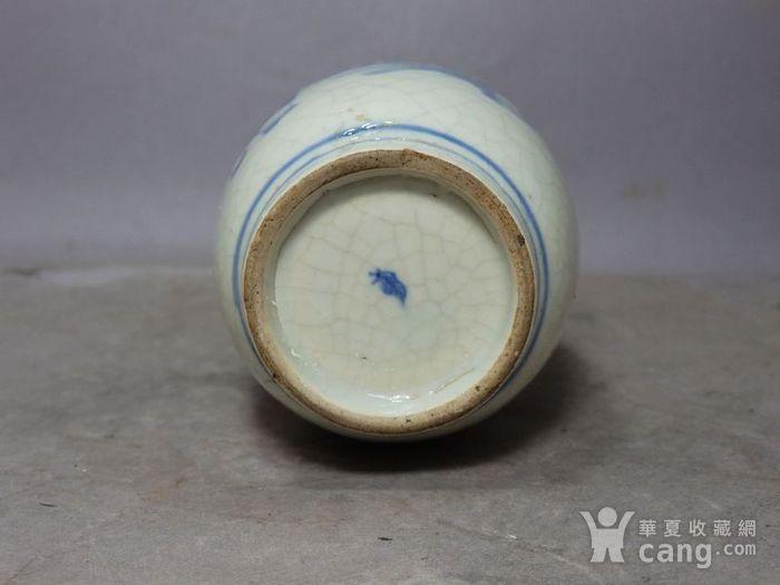 清代畏瓷青花三 教子人物绘画灯笼瓶图6