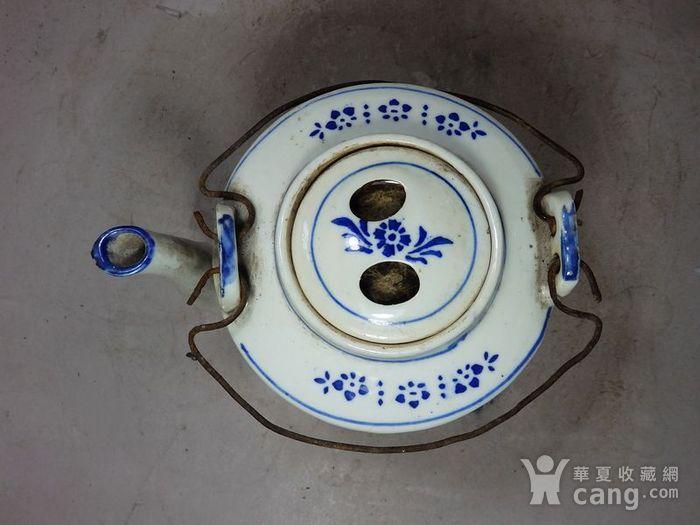 文革时期葡萄绘画提梁壶图4