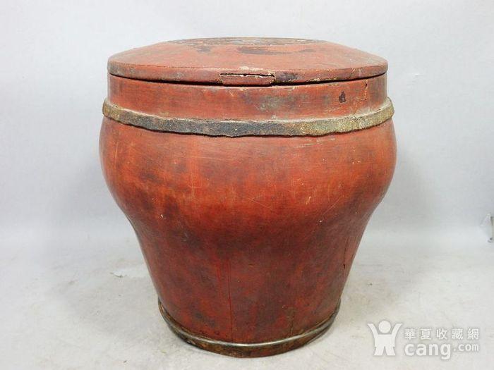 清代木质雕花桶图2