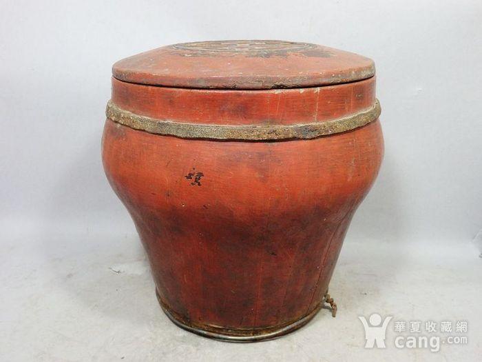 清代木质雕花桶图1