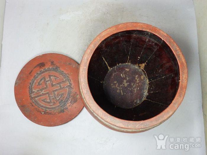 清代木质雕花桶图4