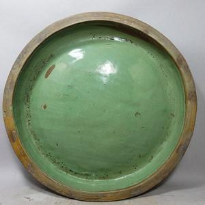 清代大号绿釉盘