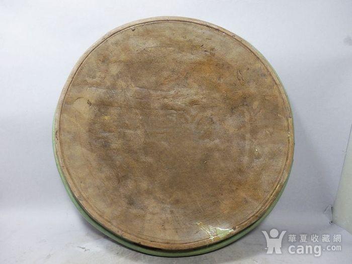 清代大号绿釉盘图2