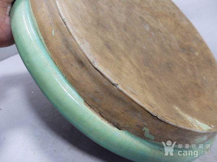 清代大号绿釉盘图3