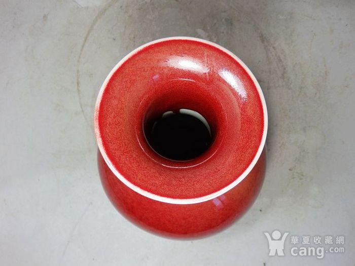 清代红釉赏瓶图4