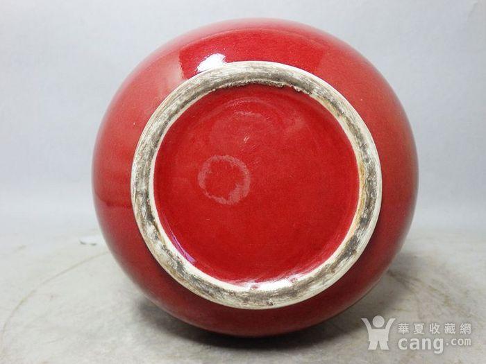清代红釉赏瓶图5