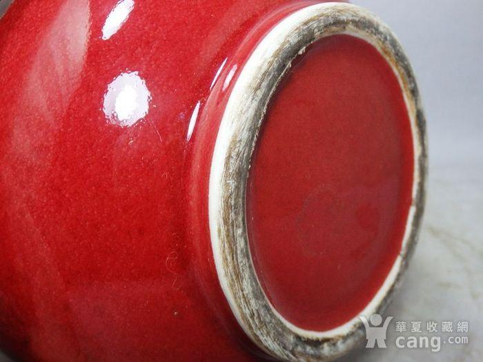 清代红釉赏瓶图6