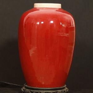 民国郎窑红釉罐