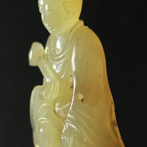 清代老玛瑙冰糖玛瑙观音座像