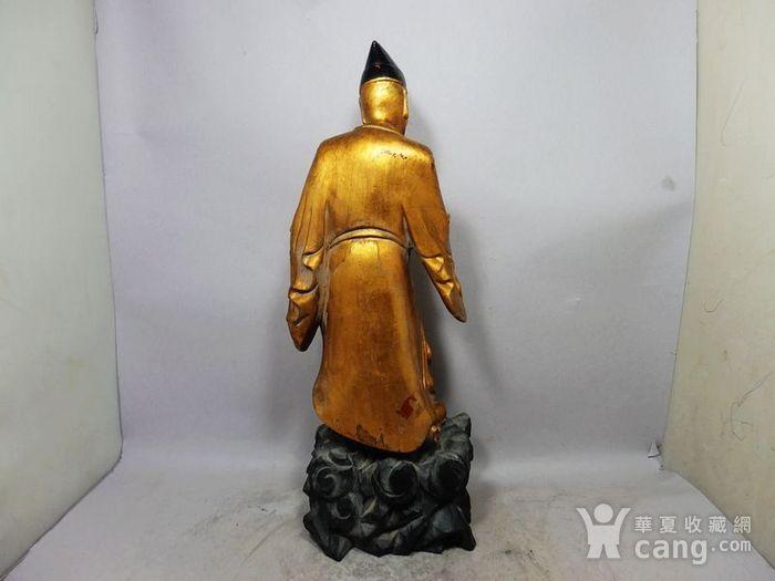 清代木鎏金济公雕像图4