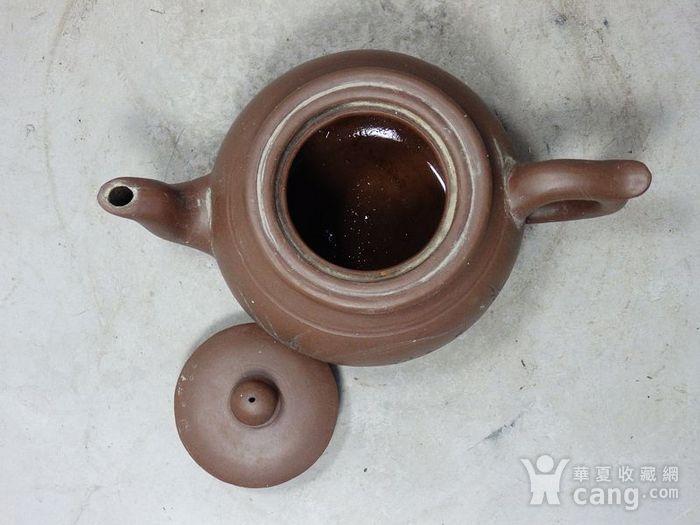 民国紫砂兰花雕刻执壶图5