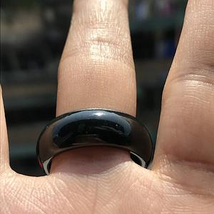 联盟珠宝  天然缅甸A货翡翠   墨翠圈口19.5男士指环