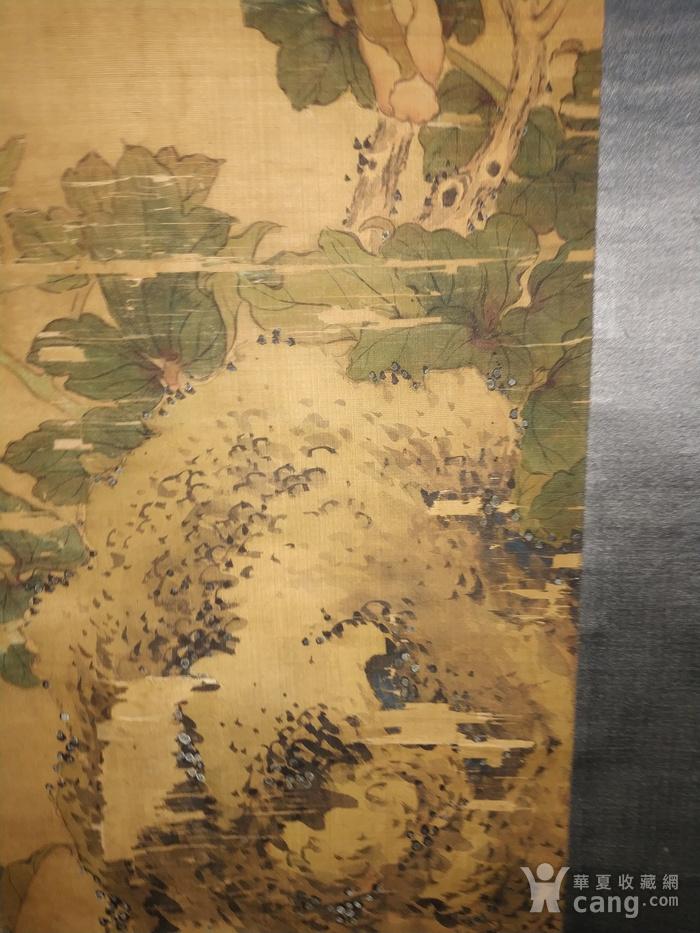 回流的瑞典回流的清代乾隆年间的绢本老画名家款图9