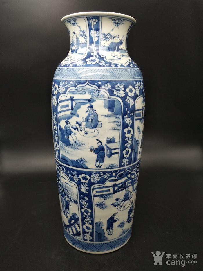 青花橄榄瓶图2