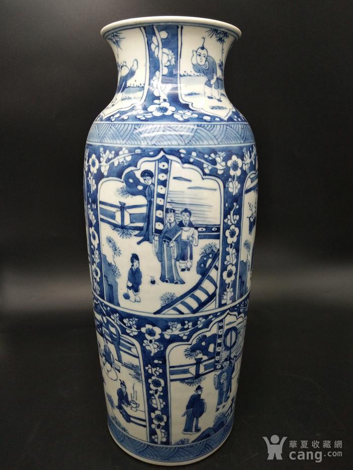 青花橄榄瓶图3