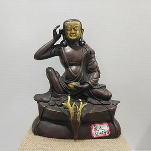 联盟清末藏传米拉日巴尊者铜造像