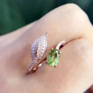 联盟 天然橄榄石绿宝戒指 活口