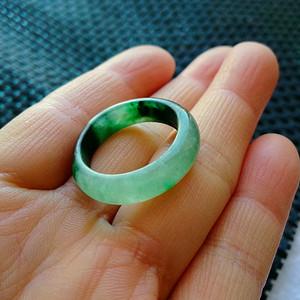 珠宝联盟 老坑A货翡翠冰种满绿戒指
