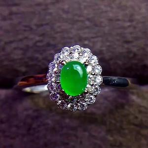 珠宝 纯天然A货翡翠戒指