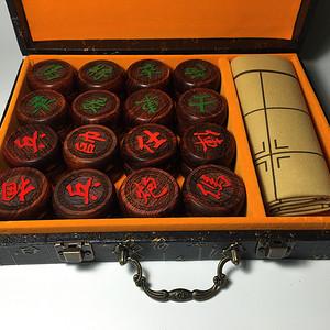 珠宝 精品红酸枝4.8公分象棋套装