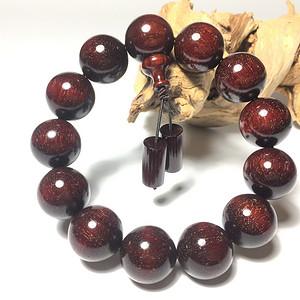 珠宝 精品印度小叶紫檀1.8满金星手串