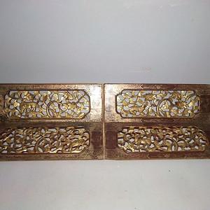 一套比较漂亮的楠木镏金板
