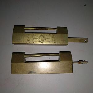 民国老铜锁2把