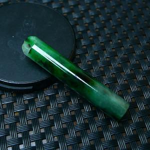 冰润满绿玲管吊坠