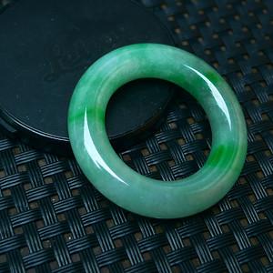 冰润满绿平安环吊坠
