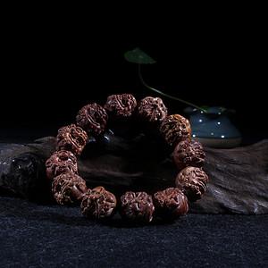 海南黄花梨紫油梨2.0貔貅手串