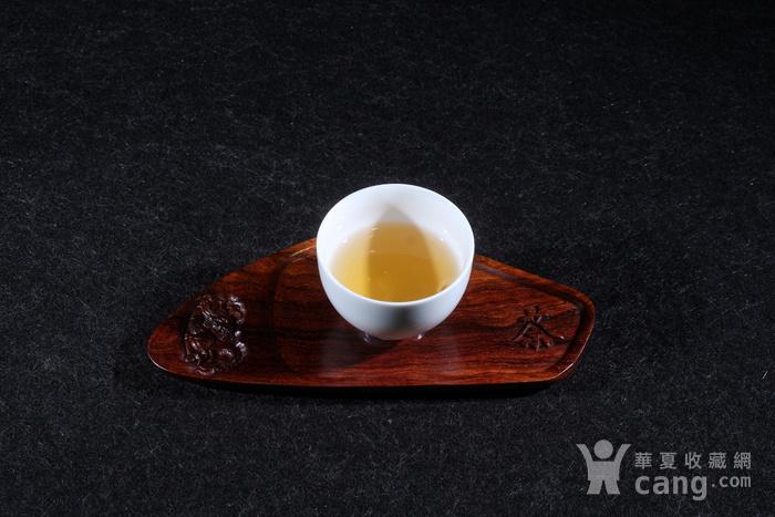 海南黄花梨精致杯托图2