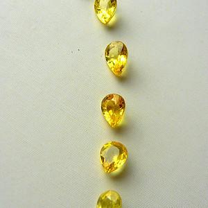 天然黄色蓝宝石裸石