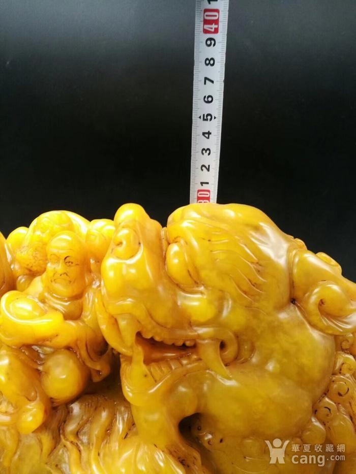 清 精工老货田黄兽罗汉大摆件图8