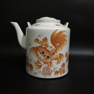 狮子茶壶 特大号