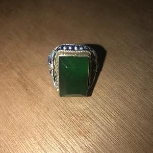 银包翡翠戒指