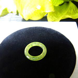 天然A货缅甸老冰种翡翠指环