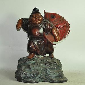 铸铁日本鱼神像