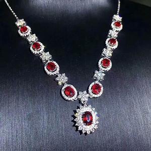 33 纯天然缅甸红宝石豪华项链