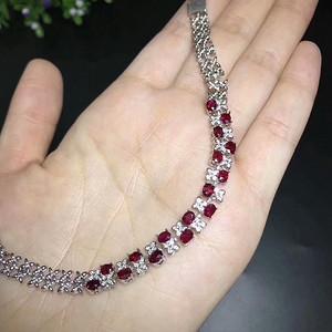 35 天然红宝石手链 缅甸红宝石奢华豪镶