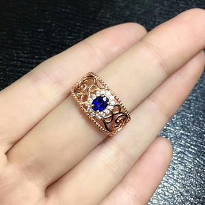 38 斯里兰卡皇家蓝蓝宝石戒指