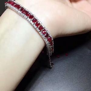 39 天然缅甸红宝石奢华豪镶手链大款