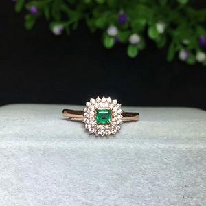 41 天然哥伦比亚祖母绿宝石戒指