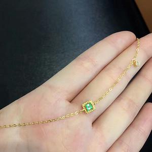 43 天然哥伦比亚祖母绿手链
