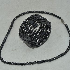 96.6克磁石项链 手链一套