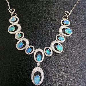 106 天然欧泊宝石项链