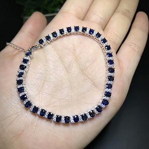 147 925银镶蓝宝石手链 奢华镶嵌豪华版 收藏精品
