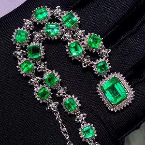 162 奢华哥伦比亚祖母绿宝石项链