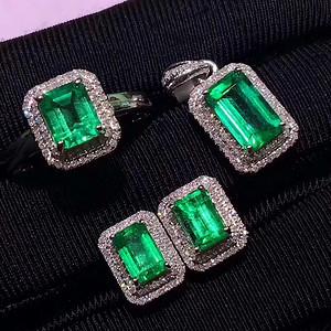 163 爆款纯天然哥伦比亚祖母绿宝石豪华套装