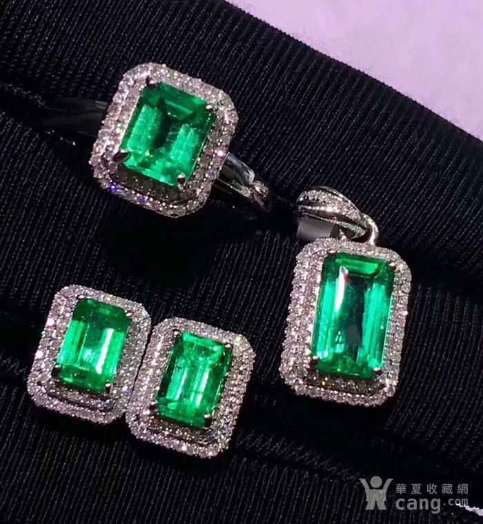 163 爆款纯天然哥伦比亚祖母绿宝石豪华套装图2