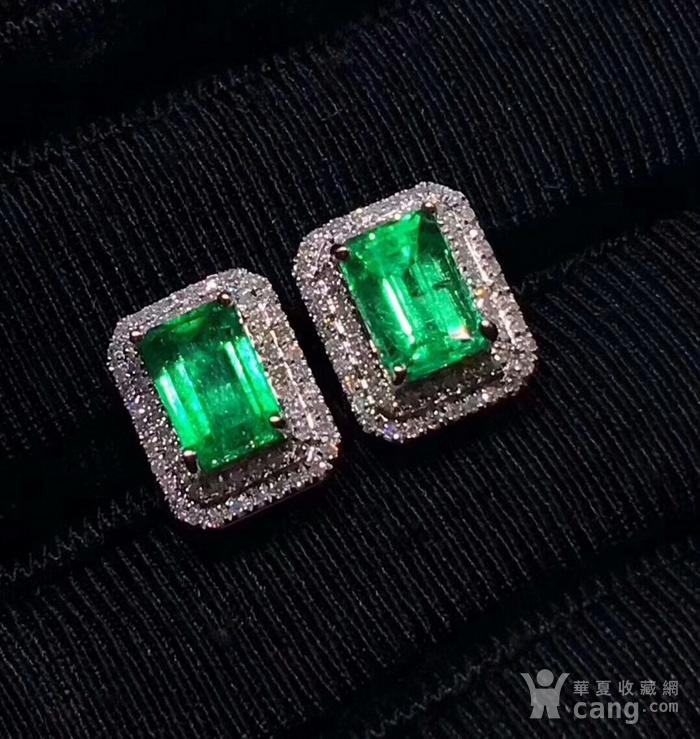 163 爆款纯天然哥伦比亚祖母绿宝石豪华套装图5